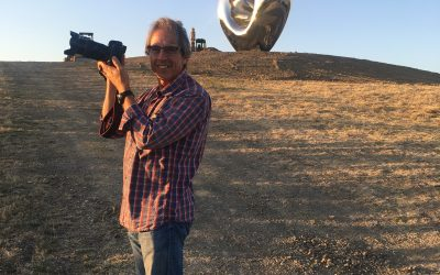 Mega-sized sculptures in the vineyard make for a fun evening walk