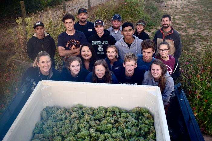 SVHS Harvested fruit students teachers advisory board members